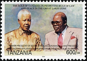Presidents Nelson Mandela and Benjamin Mkapa - Philately Tanzania stamps