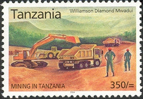 Mining in Tanzania - Williamson Diamond - Philately Tanzania stamps
