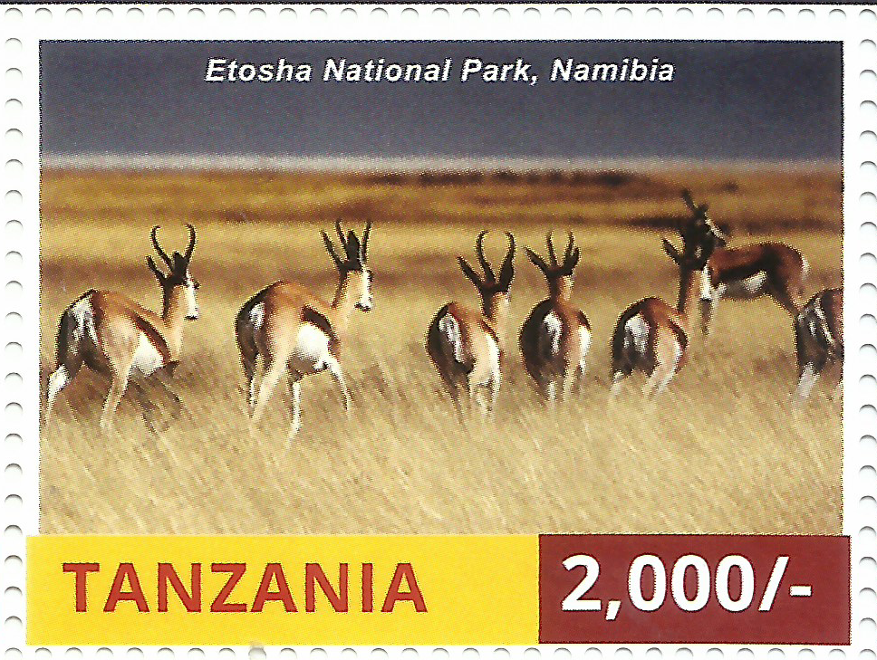 National Park-Etosha - Philately Tanzania stamps