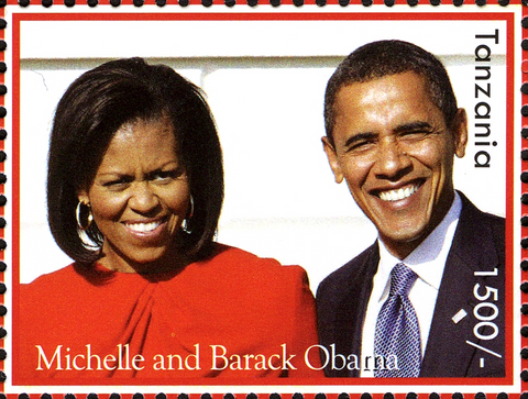Barack Obama 44th President of the United States - Philately Tanzania stamps