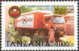 Post Cargo Tanzania Posts - Philately Tanzania stamps