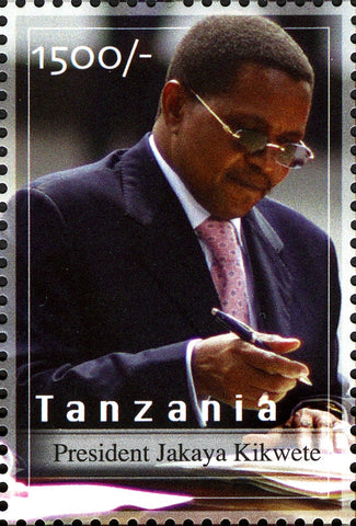 President Bush and President Kikwete - Philately Tanzania stamps