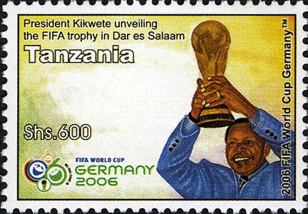 President Kikwete World cup Germany - Philately Tanzania stamps