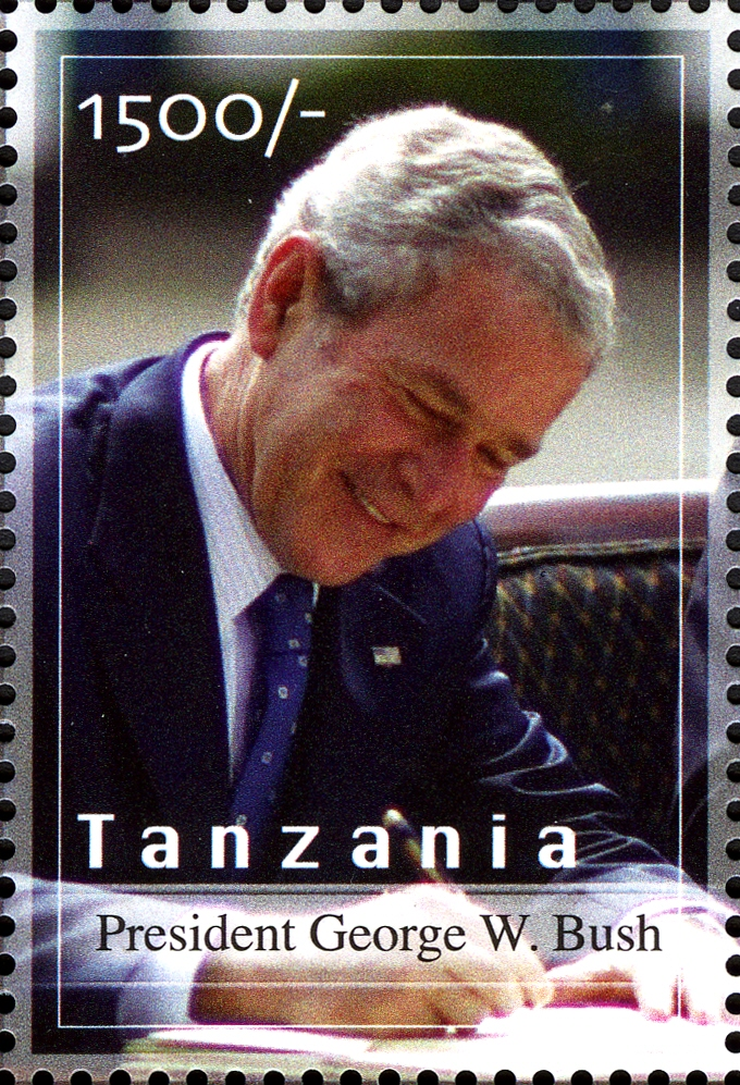 President Bush - Philately Tanzania stamps