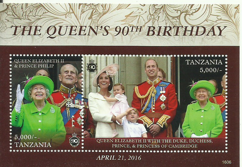 Royal Family - Souvenir - Philately Tanzania stamps