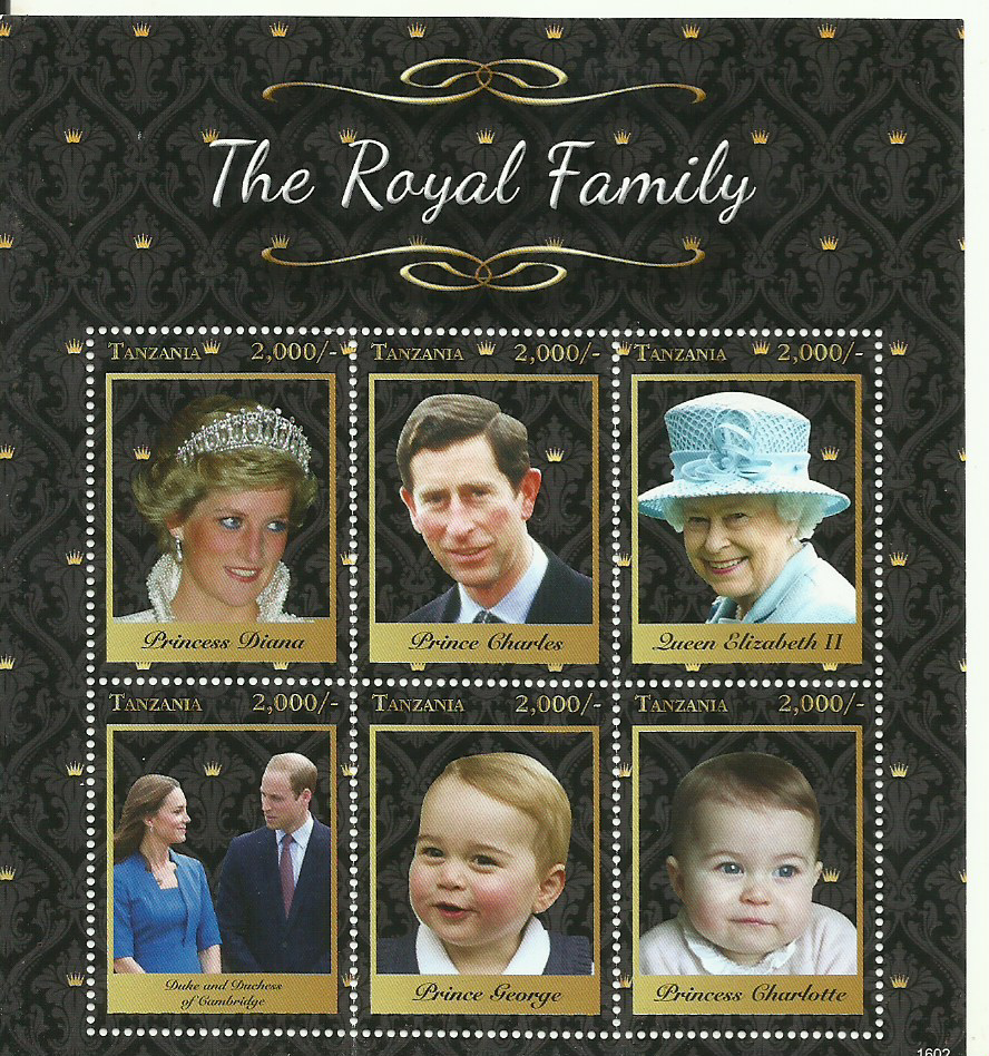 Royal Family - Sheetlet - Philately Tanzania stamps