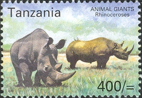 Animal Giants - Rhinoceros - Philately Tanzania stamps