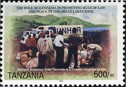 Burundi refugees from Tanzania - Philately Tanzania stamps