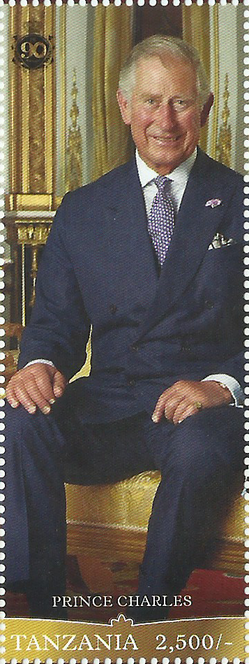 Royal Family- Prince Charles - Philately Tanzania stamps