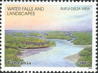 Water Falls- Rufiji Delta - Philately Tanzania stamps
