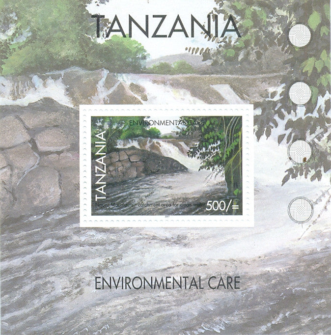 Environmental Care - Catchment areas for clean water - Souvenir - Philately Tanzania stamps