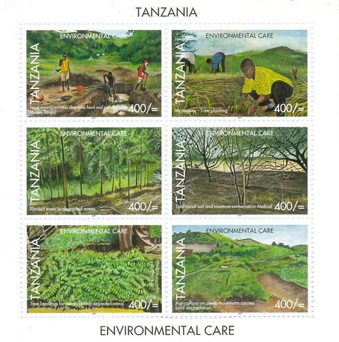 Environmental Care - Sheetlet - Philately Tanzania stamps