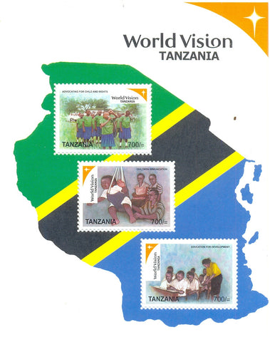 World vision Tanzania Series IV - Sheetlet - Philately Tanzania stamps