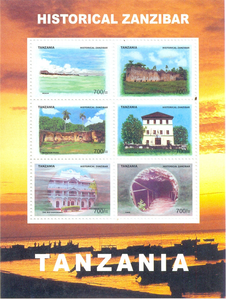 Historical Zanzibar - Sheetlet - Philately Tanzania stamps