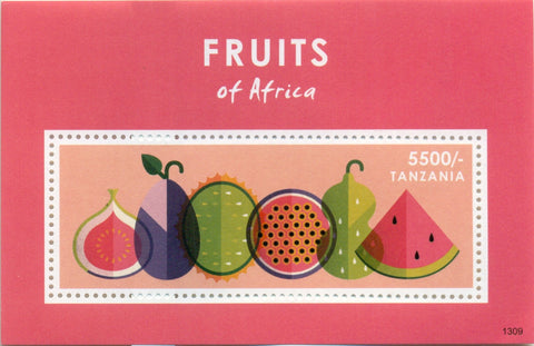 Fruits of Africa - Souvenir - Philately Tanzania stamps