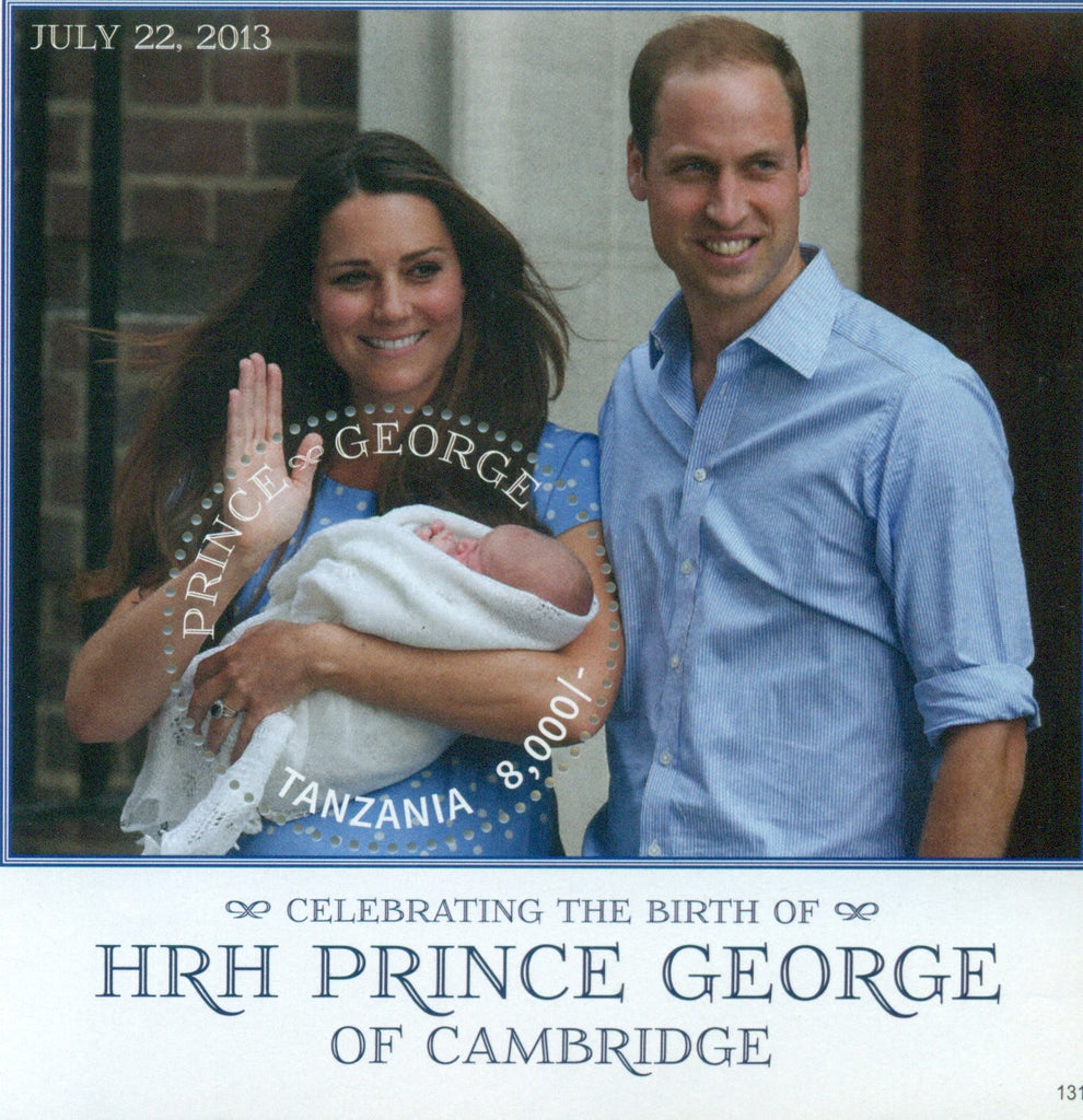 HRH Prince George of Cambridge - Souvenir - Philately Tanzania stamps