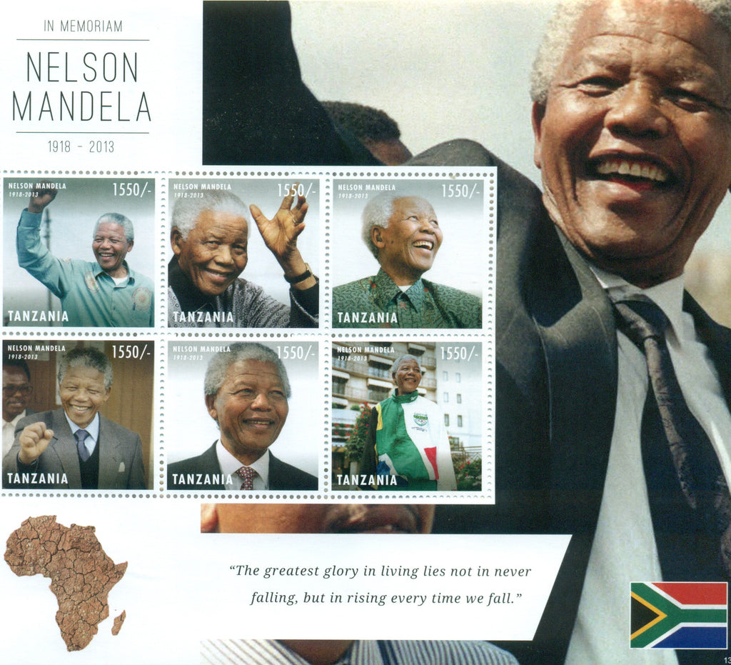 Nelson Mandela (1918-2013) - Sheetlet - Philately Tanzania stamps