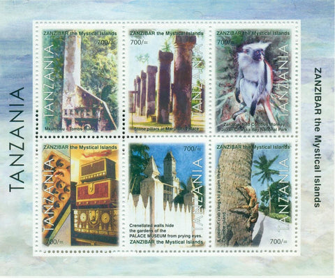 Zanzibar The Mystical Island - Sheetlet - Philately Tanzania stamps
