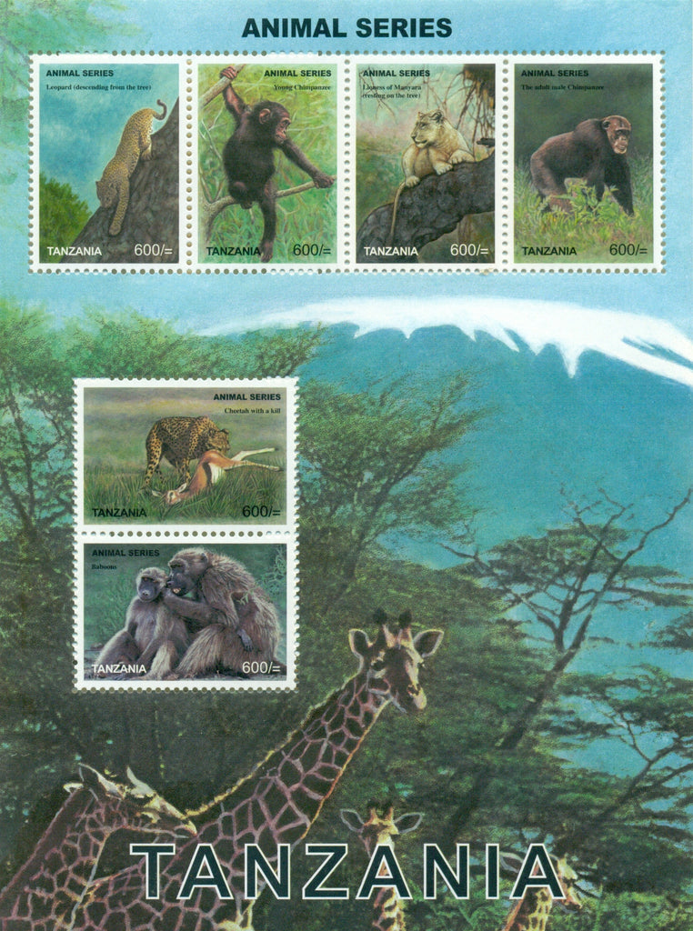 Animals Series - Sheetlet - Philately Tanzania stamps