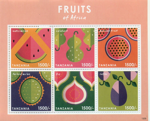 Fruits of Africa - Sheetlet - Philately Tanzania stamps