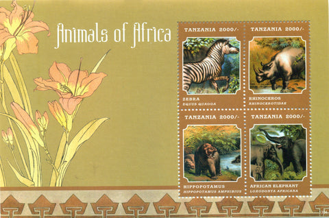 Fauna & Flora of Africa - Sheetlet - Philately Tanzania stamps