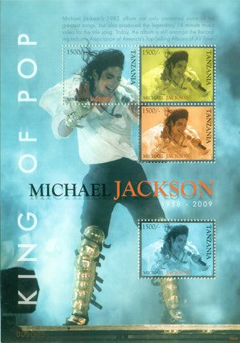 Michael Jackson Memorial - Sheetlet - Philately Tanzania stamps