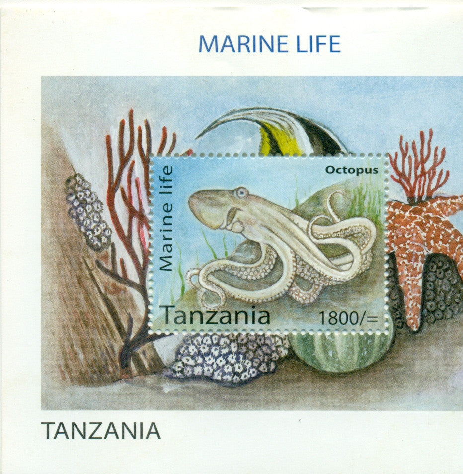 Marine Life - Souvenir - Philately Tanzania stamps