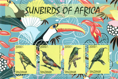 Sunbirds of Africa - Sheetlet - Philately Tanzania stamps