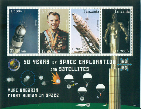 50 Years of Space Exploration & Satellites - Sheetlet - Philately Tanzania stamps