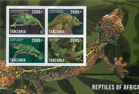Reptiles of Africa - Sheetlet - Philately Tanzania stamps