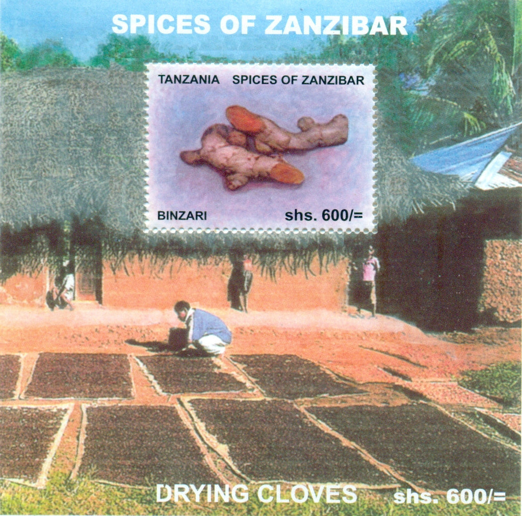 Spices of Zanzibar - Binzari- Souvenir - Philately Tanzania stamps
