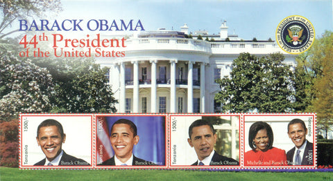 Barack Obama 44th President of the United States - Sheetlet - Philately Tanzania stamps