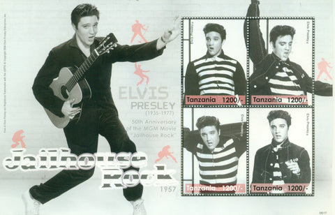 Elvis Presley in the Movies - Sheetlet - Philately Tanzania stamps