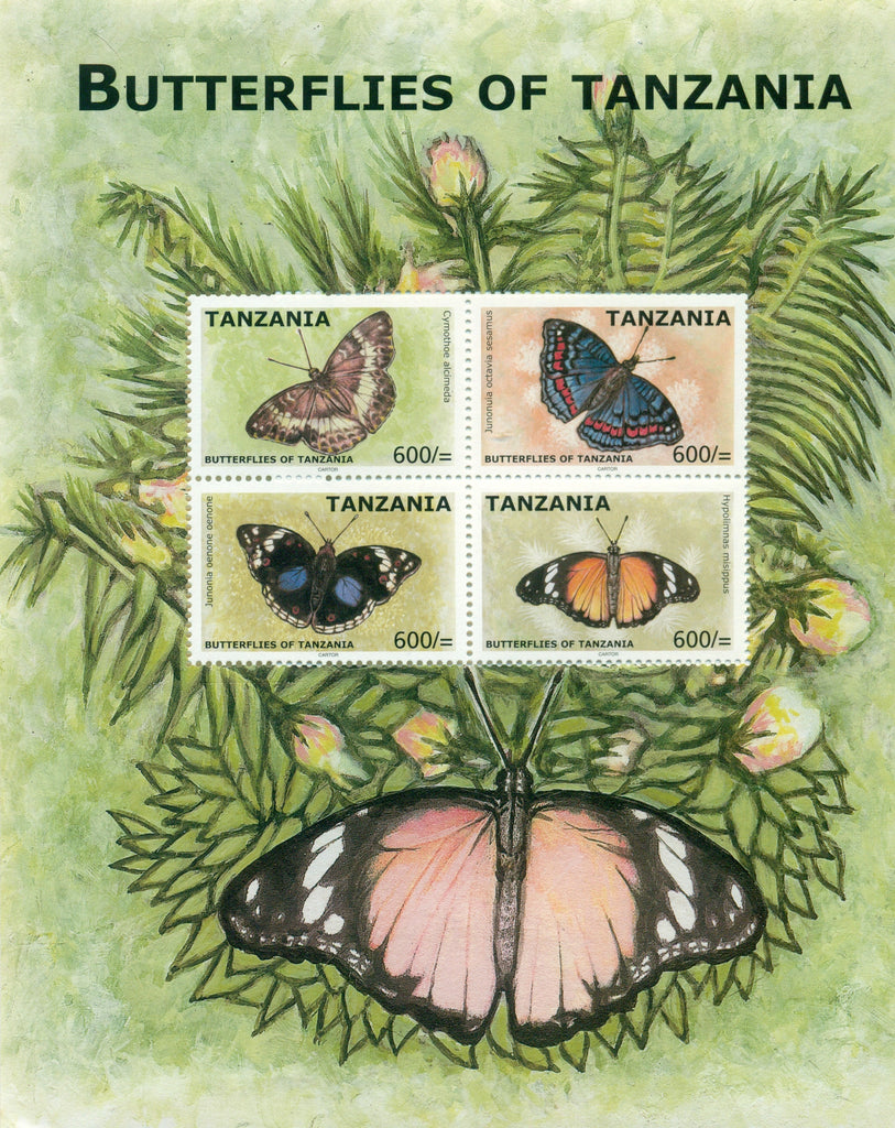 Butterflies of Tanzania - Sheetlet - Philately Tanzania stamps