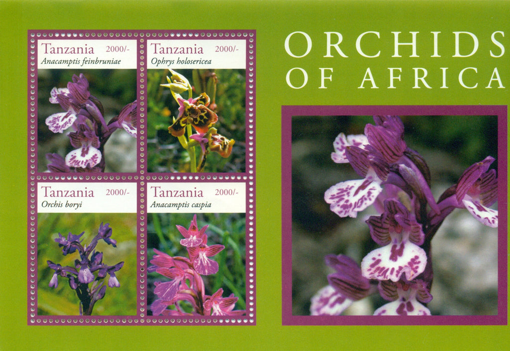 Orchids - Sheetlet - Philately Tanzania stamps