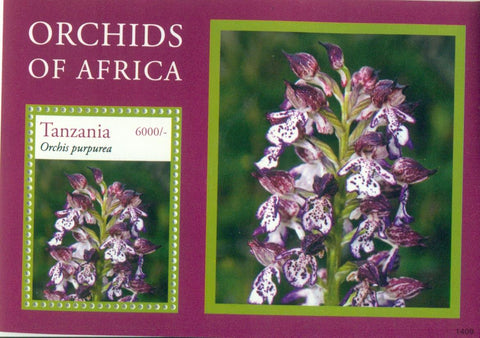 Orchids - Souvenir - Philately Tanzania stamps