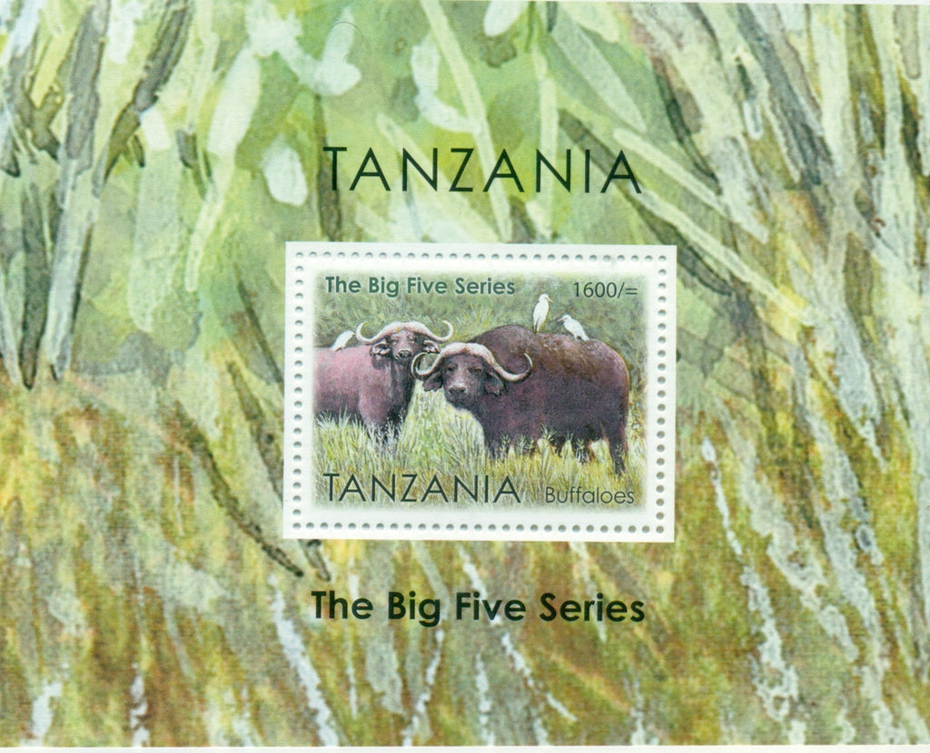 The Big Five Series - Buffaloes - Souvenir - Philately Tanzania stamps