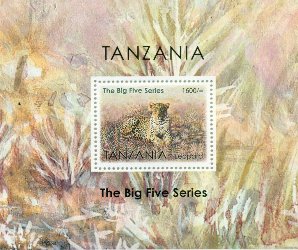 The Big Five Series - Leopard - Souvenir - Philately Tanzania stamps