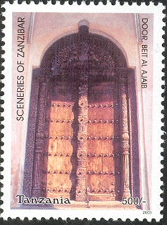 Sceneries of Zanzibar - Door, Beit al Ajaib - Philately Tanzania stamps