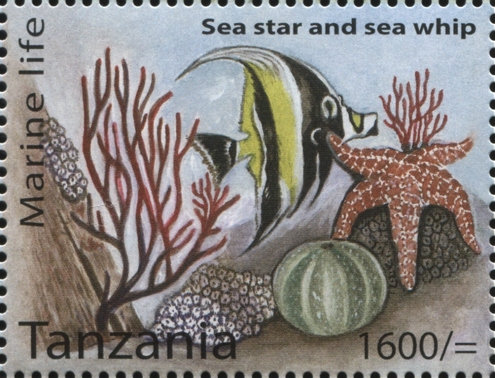 Marine Life - Sea star - Philately Tanzania stamps