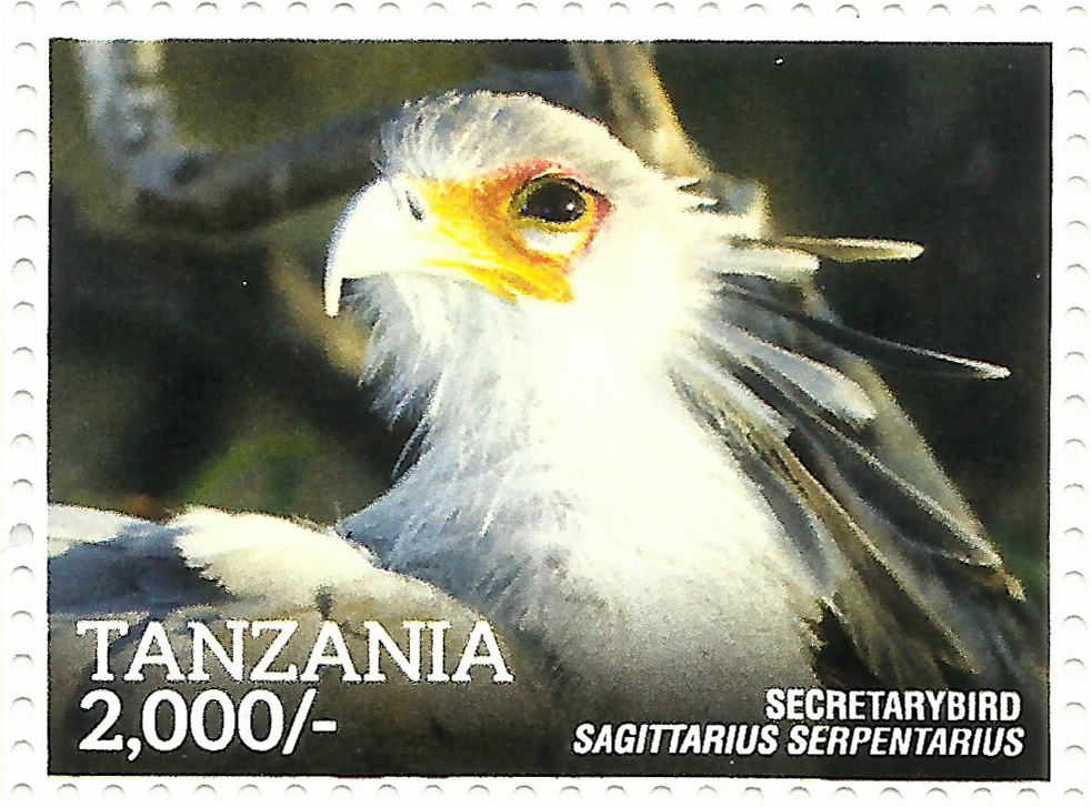 Secretary Bird - Philately Tanzania stamps