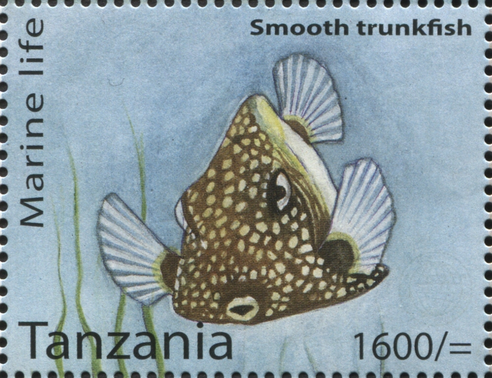 Marine Life - Smooth Trunkfish - Philately Tanzania stamps