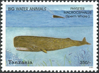 Big Water Animals - Sperm Whale - Philately Tanzania stamps