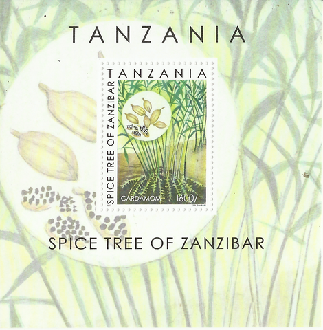 Spice tree of Zanzibar-Souvenir sheet