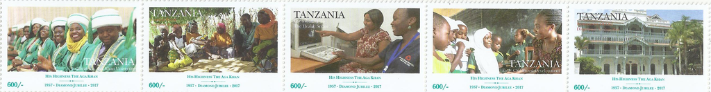 His highness The Aga Khan - Stamp Sheet - Philately Tanzania stamps