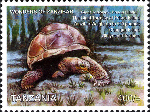 Tortoise - Philately Tanzania stamps