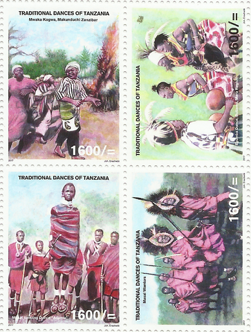 Music & Dance - Sheetlet - Philately Tanzania stamps