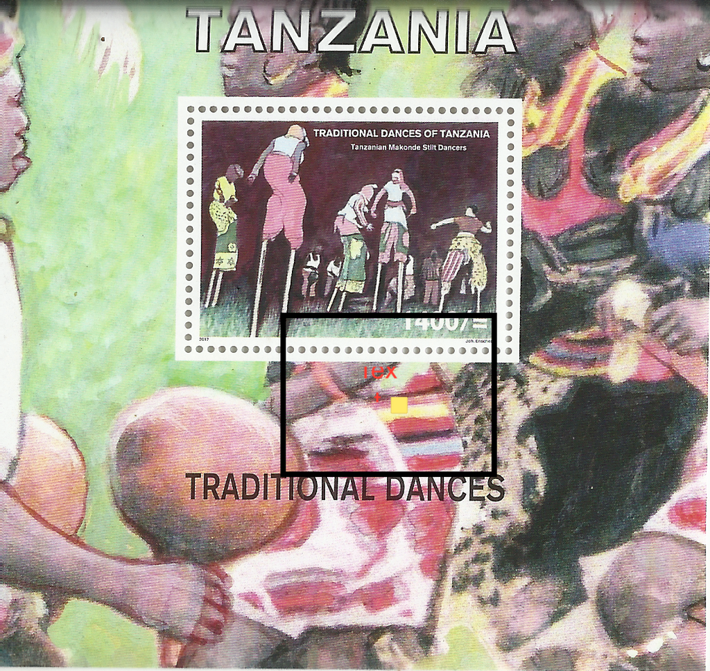 Makonde Dance - Souvenir Sheet - Philately Tanzania stamps