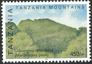 Udzungwa Mountain - Philately Tanzania stamps