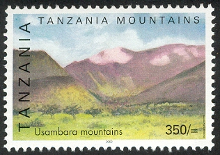 Usambara Mountain - Philately Tanzania stamps